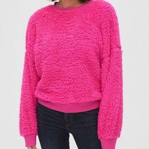 NWT GAP Sherpa Crewneck Petite Sweatshirt